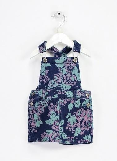 Asymmetry Salopet Elbise İndigo